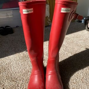Red Hunter Rain Boots (knee high)